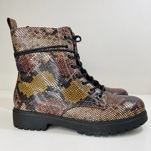 NWT SO Bowfin Combat Boots Snake 9.5